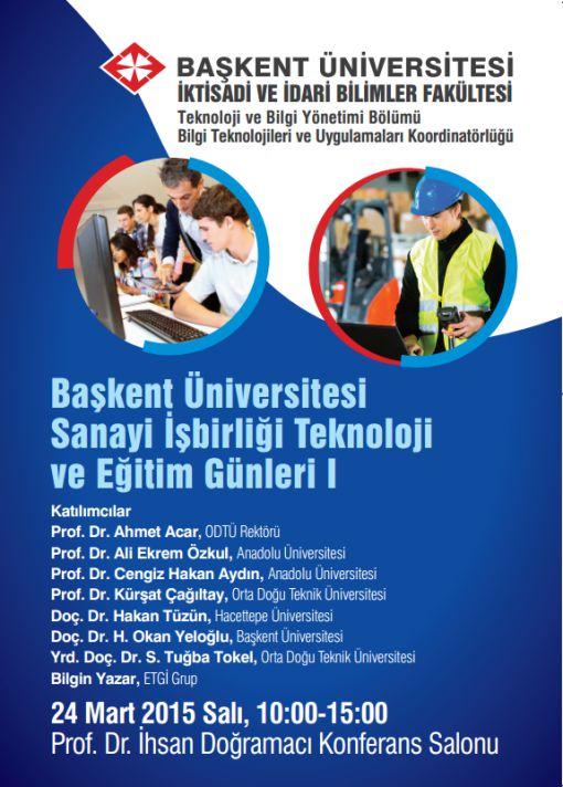 Başkent Üniversitesi'nde 24 Mart'ta Gelecekte Eğitim Konuşulacak