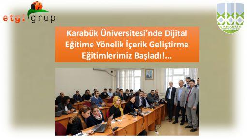 Karabük Üniversitesi'nde Eğitimleri