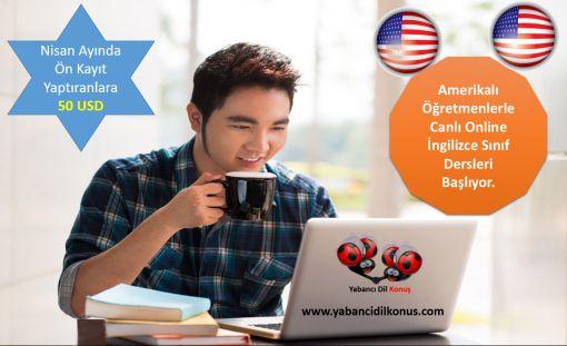 4 Mayıs'da Amerikalı Öğretmenlerle Canlı Online İngilizce Dersleri Baslıyor.